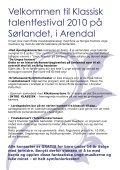 ung klassisk - Arendal kommune - Page 3