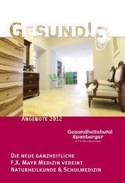 Angebote & Preise 2012 als PDF downloaden - Hotel Spanberger