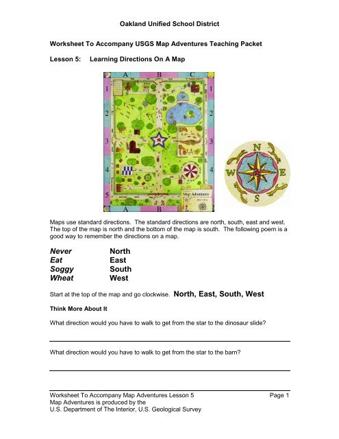 Learning Directions On A Map - OUSD School-Finder - Oakland ...