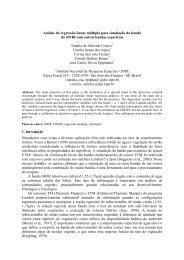 Análise de regressão linear múltipla para simulação da ... - OBT - Inpe
