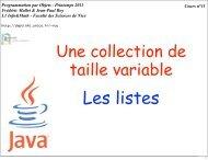 Cours n°11 Programmation par Objets - Printemps 2011 Frédéric ...