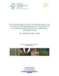 FSC REQUIREMENTS FOR THE PROMOTIONAL USE ... - NEPCon