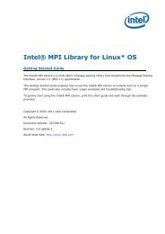 Intel® MPI Library for Linux* OS Getting Started Guide