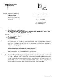 Ergänzung des BMF-Schreibens vom 18. Dezember 2009 - BStBl ...