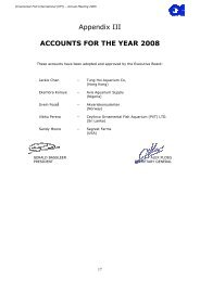 Appendix III ACCOUNTS FOR THE YEAR 2008 - Ornamental Fish ...