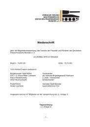 Niederschrift Mitgliederversammlung 2010 - Deutsches ...
