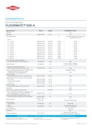 Technisches Datenblatt FLOORMATE™ 500-A - Dow Building ...