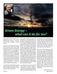 Green Energy – what can it do for me? - IMSA
