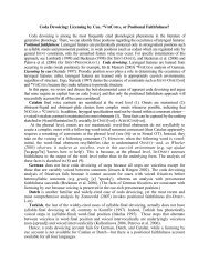 Coda Devoicing - CUNY Phonology Forum
