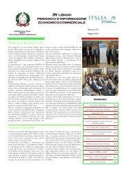 Notiziario IN LIBANO Maggio 2011.pub - Ministero degli Affari Esteri