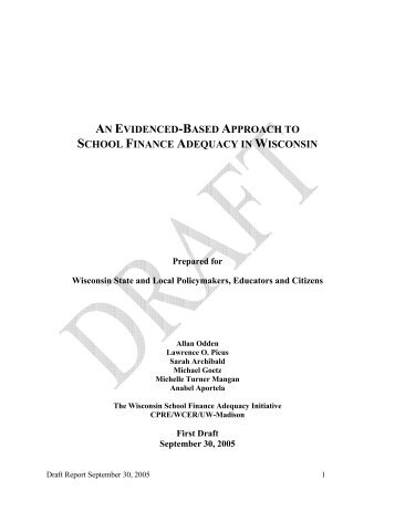 an evidenced-based approach to school finance adequacy in ...