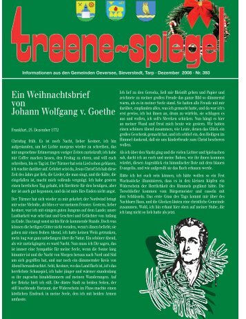 Ein Weihnachtsbrief von Johann Wolfgang v. Goethe - Treenespiegel