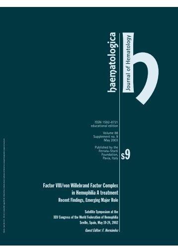 Haematologica 2003;88:supplement no. 9 - Supplements ...