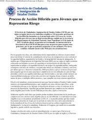 USCIS - Proceso de Acción Diferida para Jóvenes que no ...