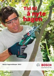 Last ned produktkatalog - Bosch elektroverktøy
