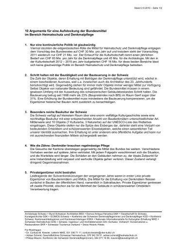 10 Argumente für eine Aufstockung der Bundesmittel im Bereich ...