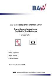 IAB-Betriebspanel Bremen 2007 - Der Senator für Wirtschaft, Arbeit ...