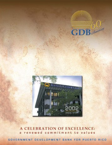 2002 Annual Report Editorial - Government Development Bank