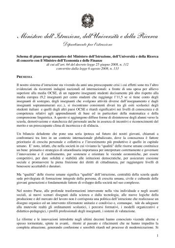 Piano programmatico DL112 - Portale e-scuola - Provincia di Lodi