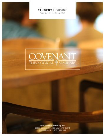 Housing Handbook - Covenant Theological Seminary