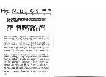 Nieuwsbrief 1992 09 (september) - Historische Vereniging Capelle ...