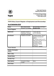 TCPA Policy Council Register of Employment and Directorships As ...