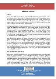 Analisis Media Agustus 2012 - Kalyanamitra