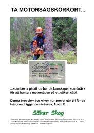 ta motorsågskörkort - Säker Skog
