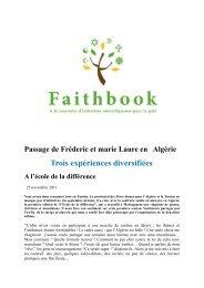Trois expériences diversifiées - Église Catholique d'Algérie
