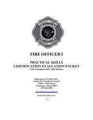 Fire Officer I Skill Sheets - Alaska Department of Public Safety