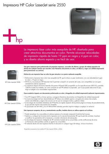 Impresora HP Color LaserJet serie 2550 - Alo girona