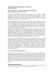 Micro-hydro power: an option for socio-economic ... - Afghan