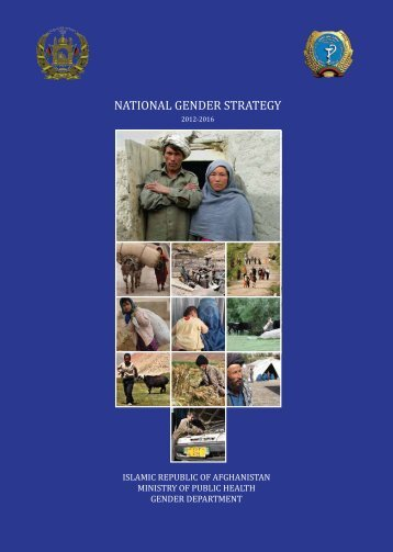 national gender strategy - Ministry of Public Health Afghanistan