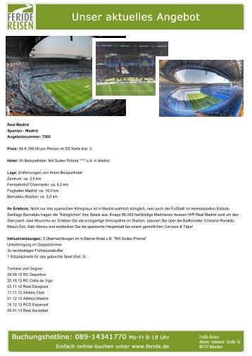 Aktuelles Angebot: Real Madrid