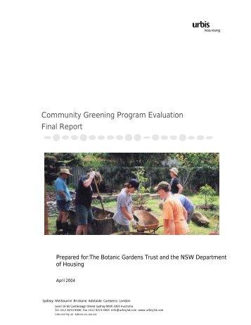 Community Greening Program Evaluation Final Report