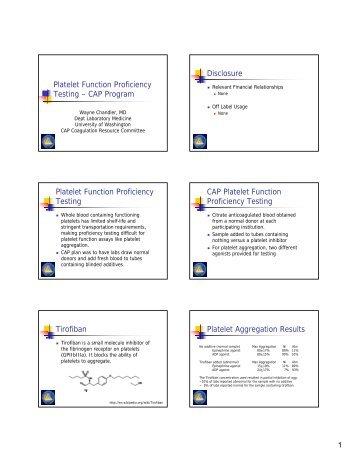 Platelet Function Proficiency Testing – CAP Program ... - NASCOLA