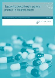 Supporting prescribing in general practice - a ... - Audit Scotland