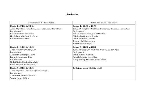 Seminarios