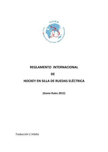 reglamento internacional de hockey en silla de ruedas eléctrica
