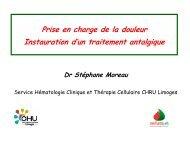 La douleur aujourd'hui - Faculté de Médecine de Limoges