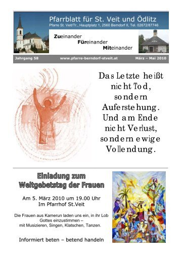 März 2010 - Pfarre Berndorf-St. Veit