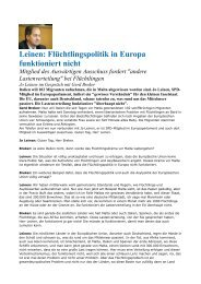 Flüchtlingspolitik in Europa funktioniert nicht - Borderline Europe