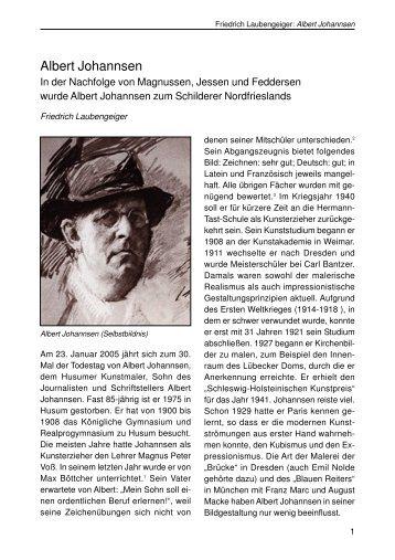 Johannsen, Albert Maler - Husum-Stadtgeschichte