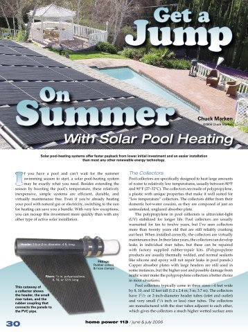 Get a Jump On Summer with Solar Pool Heating - Equal Parenting-BC