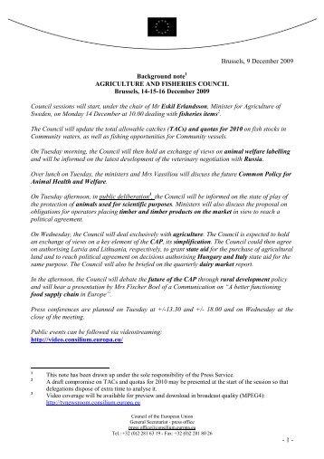 Background note - Fisheries Secretariat