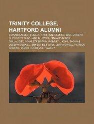 Trinity College, Hartford, Alumni - Philosophy and Religion