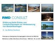 Präsentation Herr Dr. Haselbauer, RMD Consult - Süd