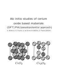 Ab initio studies of cerium oxide based materials CeO2 Ce2 O3