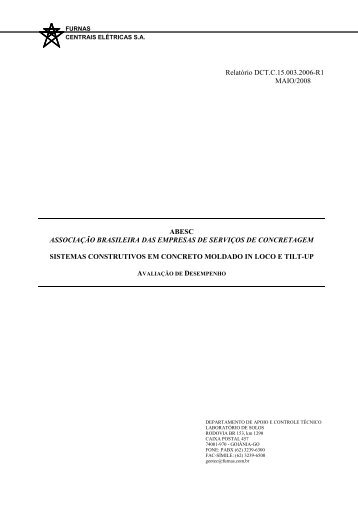 Relatório DCT.C.15.003.2006-R1 MAIO/2008 ABESC ...
