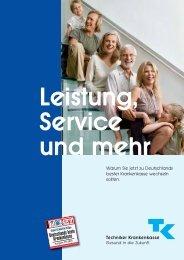 Leistung, Service und mehr